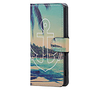 Anchor and Sea Magnetic PU Leather wallet Flip Stand Case cover for Sony Xperia XA PP10 F3111 F3112 F3113