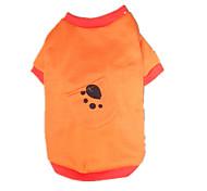 Hunde T-shirt / Kleidung / Kleidung Blau / Orange Winter Karton