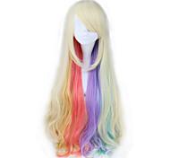 Parrucca VOCALOID MAYU ondulata lunga sintetica Multi-color Anime Cosplay