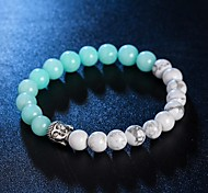 New Arrival 5 Colors Nature Stone Buddha Bracelet Strand Bracelets Daily / Casual 1pc Hot Sale