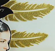 Metallic Paper Women Gold for Hair Tattoo Stickers