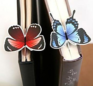 1PC Novelty Gift 3D Colorful Notebook Bookmarks Paper Card Butterfly Bookmark for Books(Style random)
