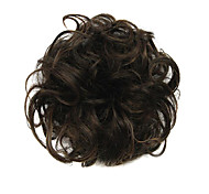 parrucca cioccolato nero 6 centimetri ad alta temperatura del filo cerchio dei capelli di colore 2/30