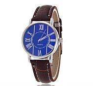 Men's Luxury Leather Band Blue Case Military Sports Style Watch Jewelry Cool Watch Unique Watch