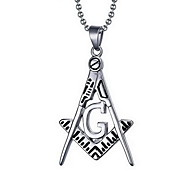 Men's Fashion Punk Style Silver Steel Pendant for Necklace