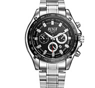 Men's Stainless Steel Sports Calendar Watch Fashion Watch Cool Watches Unique Watches