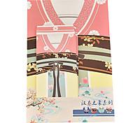 Hanfu series letter set envelope (3 envelope 6 stationery, stationery envelope 8.6*17.6CM, 18.5*26CM, random pattern)