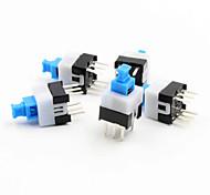 7 x interruptor de travamento automático 7 milímetros - azul + branco + preto (5 peça pack)