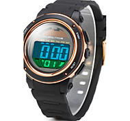 Men's Solar Power LCD Digital Rubber Band Waterproof Sports Watch Wrist Watch Cool Watch Unique Watch