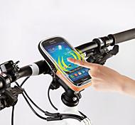 ROSWHEEL® Bolsa de BicicletaBolsa para Guidão de BicicletaZíper á Prova-de-Água Á Prova de Humidade Camurça de Vaca á Prova-de-Choque