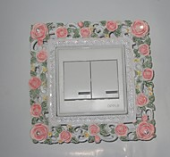 Botânico Wall Stickers Autocolantes 3D para Parede,Resin 15*15*2cm