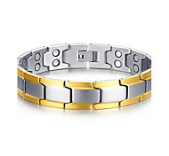 Men's Jewelry Health Care Silver Titanium Steel Magnetic Therapy Bracelet Fashion  Jewelry Christmas Gifts