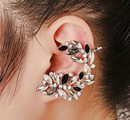 Unisex Fashion Gold/Silver Crystal Stud Ear Cuffs Earrings Jewelry(1PC)