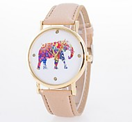 Ladies' Watch Ms. Quartz Elephant Flower Dial Quartz Watch Strap