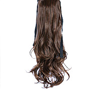 Wig Brown 50CM High-Temperature Wire Strap Style Long Hair Ponytail Colour 4A/27A