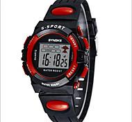 SYNOKE Дети Спортивные часы Наручные часы электронные часы LCD Календарь Секундомер Защита от влаги тревога Светящийся Цифровой PU Группа