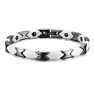 Magnetic Therapy Bracelet Unisex Jewelry Health Care White & Black  Fashion Gift Jewelry
