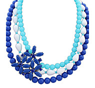Necklace Choker Necklaces Jewelry Rose / Black / Blue Alloy / Resin Party / Daily / Casual 1pc Gift