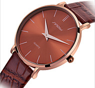 Ultra-Thin Contracted Belt Waterproof Quartz Men Watch Two Needle