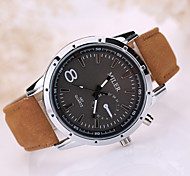 Men's Luxury Leather Band Black 8 Case Military Sports Style Watch Jewelry Wrist Watch Cool Watch Unique Watch