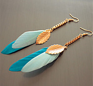 Earring Leaf Drop Earrings Jewelry Women Fashion / Bohemia Style Party / Casual 1 pair Gold / Blue