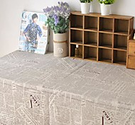 Newspaper Table Cloth Fashion Hotsale High-grade Cotton Linen Square Coffee Table Cloth Cover Towel