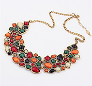 Necklace Pendant Necklaces Jewelry Wedding / Party / Daily / Casual Crystal / Alloy / Resin Gold 1pc Gift