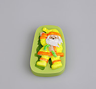 Fonddant Cake Decorating Tools Santa Claus Christmas Silicone Mold for Cupcake Candy Chocolate Soap Clay Fimo Resin