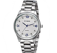 Men's Solid Stainless Steel Fashion Calendar Dress Watch Wrist Watch Cool Watch Unique Watch