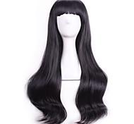 Мода черный волнистые кудрявые сексуальные Парики натуральные парики косплей реалистичные парики Perruque дешевые синтетические волосы