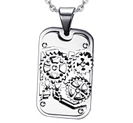Men's Fashion Gear Style Steel Pendant for Necklace