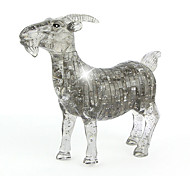 ABS 3D DIY Goat Crystal Puzzle Animal Educational Toys For Kids Or Adults Clear/Grey