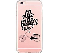 For iPhone 6 Case / iPhone 6 Plus Case Ultra-thin / Transparent / Pattern Case Back Cover Case Word / Phrase Soft TPU for iPhone 6s