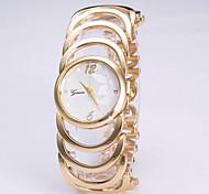 Mulheres Relógio de Moda Digital Aço Inoxidável Banda Relógio de Pulso Dourada