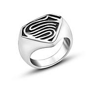 Кольца Мода Повседневные Бижутерия Классические кольца 1шт,Стандартный размер Серебряный