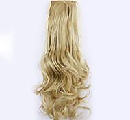 longitud 50 cm negro fábrica de la venta directa de tipo cola de caballo se unen rizo de pelo cola de caballo (color 25)