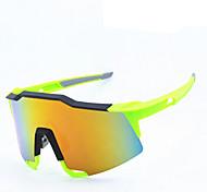 99.259 Ossat sportivi Occhiali occhiali vento all'aperto occhiali vetri di riciclaggio - giallo fluorescente placcatura pellicola gialla