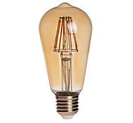 8W E26/E27 Bombillas LED de Globo ST64 8 COB 750 lm Blanco Cálido Decorativa / Impermeable AC 85-265 V 1 pieza