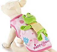 Exquisite Cartoon Pattern Pet Coat with Frog Toy