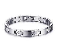 Men's Jewelry Health Care Silver Tungsten Steel Magnetic Bracelet