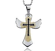 Women's Fashion Cross Style Titanium Pendant for Necklace