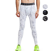 Vansydical Men's Quick Dry Fitness Bottoms White / Green / Gray