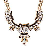 Necklace Pendant Necklaces Jewelry Wedding / Party / Daily / Casual Crystal / Alloy / Rhinestone Gold 1pc Gift