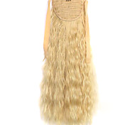 Wig White Gold 50CM Water Synthetic High Temperature Wire Hot Corn Horsetail Color 86