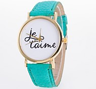 Ladies' Watch Simple Alphabet Plate Leather Belt Quartz Watch