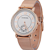 Men's Fashion Ultrathin Belt Watches Rose Gold Watches Simple Quartz Watches Individuality Watches