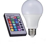 E27 85V-265V 700-850Lm 10W RGB Remote Control LED Colorful Bulbs