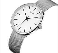 Men Watch High-Grade Ultra-Thin Couples Watch Mesh Belt Contracted Waterproof Watch Students