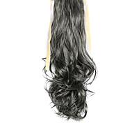 parrucca grigia 50 centimetri sintetico filo ad alta temperatura ricci coda di cavallo di colore 2/613
