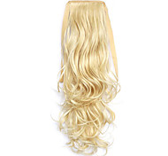 Golden Length 50CM Synthetic Curly Hair Wig Horsetail Melange Belt Type(Color 60/86)